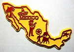 Mexico Map Fridge Magnet Design 2