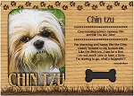 Chin Tzu Engraved Wood Picture Frame Magnet