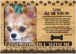 Gone But Still With Me Engraved Wood Picture Frame Magnet