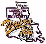 LSU Tigers Outline Fridge Magnet