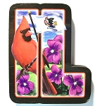 Illinois Artwood Initial Magnet Design 19