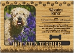 Wheaten Terrier Engraved Wood Picture Frame Magnet