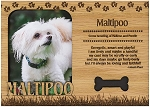 Maltipoo Engraved Wood Picture Frame Magnet