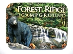 Forest Ridge Campground Pennsylvania with Black Bear Photo Fridge Magnet Design 26