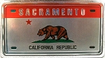 Sacramento California Foil Panoramic Dual Sided Fridge Magnet