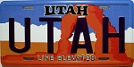 Utah State License Plate Novelty Fridge Magnet