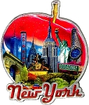 New York The Big Apple Jumbo Artwood Foil Fridge Magnet