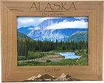 Alaska The Last Frontier Est. 1959 Laser Engraved Wood Picture Frame