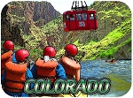 Colorado Royal Gorge with Rafters Fridge Magnet