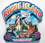 Rhode Island Montage Artwood Fridge Magnet Design 16