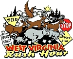 West Virginia Rush Hour Fridge Magnet