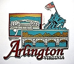 Historic Arlington Virginia Fridge Magnet Design 27