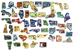All 50 State Multi Color Fridge Magnets Complete Set