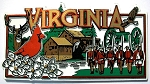 Virginia Collage Rectangle Fridge Magnet
