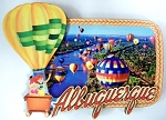 Albuquerque New Mexico with 1 Hot Air Balloon Artwood Fridge Magnet Design 1