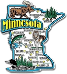 Minnesota Jumbo State Map Fridge Magnet