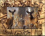 Whitetail Deer Laser Engraved Wood Picture Frame