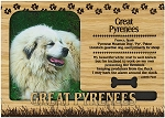 Great Pyrenees Engraved Wood Picture Frame Magnet