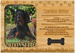 Gordon Setter Engraved Wood Picture Frame Magnet