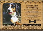 Greater Swiss Mountain Dog Engraved Wood Picture Frame Magnet