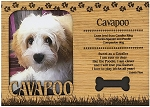 Cavapoo Engraved Wood Picture Frame Magnet