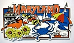 Maryland Collage Rectangle Fridge Magnet Design 30