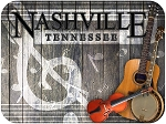 Nashville Tennessee Music Border Fridge Magnet