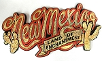New Mexico Land of Enchantment Script Fridge Magnet Design 1
