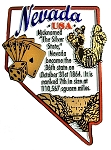 Nevada Outline Montage Fridge Magnet