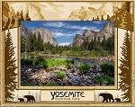 Yosemite National Park Laser Engraved Wood Picture Frame