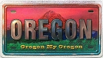 Oregon My Oregon Foil Panoramic Dual Sided Fridge Magnet