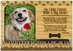 My Little Friend Engraved Wood Picture Frame Magnet