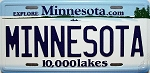Minnesota State License Plate Novelty Fridge Magnet