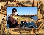 Walleye Fish Laser Engraved Wood Picture Frame (5 x 7)