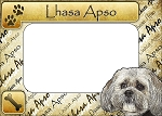 Lhasa Apso Picture Frame Fridge Magnet