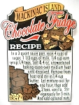 Mackinac Island Fudge Recipe Fridge Magnet