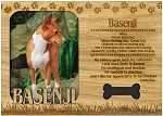 Basenji Engraved Wood Picture Frame Magnet