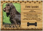 Field Spaniel Engraved Wood Picture Frame Magnet