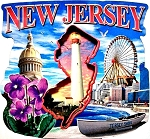 New Jersey Montage Artwood Fridge Magnet