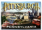 Pittsburgh Pennsylvania 3 Views of the City Fridge Magnet Design 30