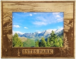 Estes Park Colorado Mountain Landscape Laser Engraved Wood Picture Frame
