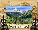 Washington Laser Engraved Wood Picture Frame
