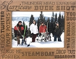 Steamboat Colorado Ski Runs Laser Engraved Wood Picture Frame (5 x 7)