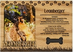 Leonberger Engraved Wood Picture Frame Magnet