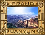 Grand Canyon National Park Southwest Style Laser Engraved Wood Picture Frame