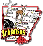 Arkansas Jumbo Map Fridge Magnet