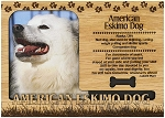 American Eskimo Dog Engraved Wood Picture Frame Magnet