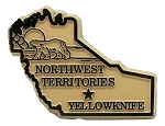 Northwest Territories Yellowknife Canadian Province Fridge Magnet