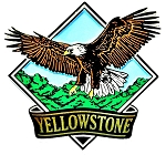 Yellowstone National Park with Eagle Fridge Magnet