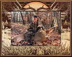 Big Buck Hunting Laser Engraved Wood Picture Frame (5 x 7)